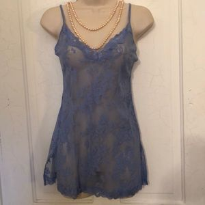 VS sexy sheer blue lace nightie M